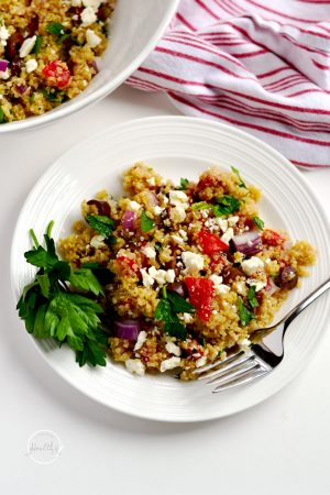 Greek Quinoa Salad (with Bob's Red Mill)