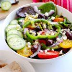 Greek Salad Zoe S Kitchen Copycat A Pinch Of Healthy