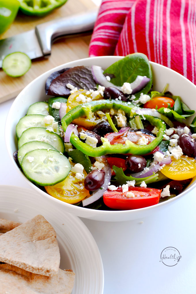 Greek Salad (Zoe\'s Kitchen Copycat) - A Pinch of Healthy