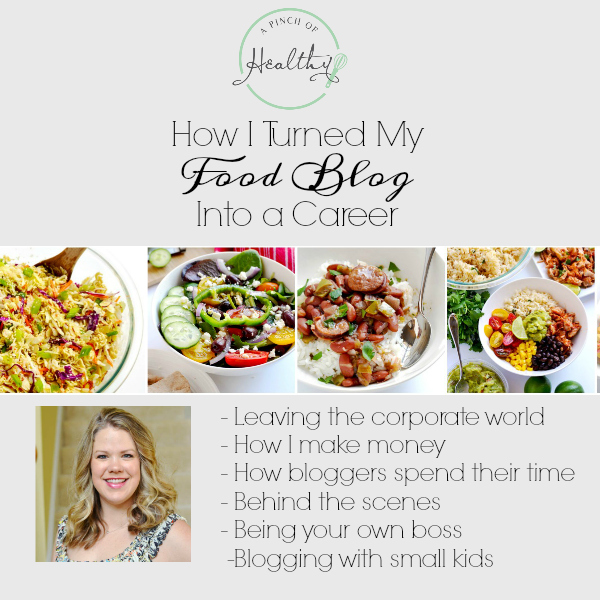 How I turned my food blog into career: how I make money, how bloggers spend their time, how I left my corporate job. | APinchOfHealthy.com