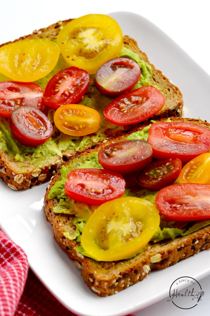 avocado toast quick vegan breakfast a pinch of healthy