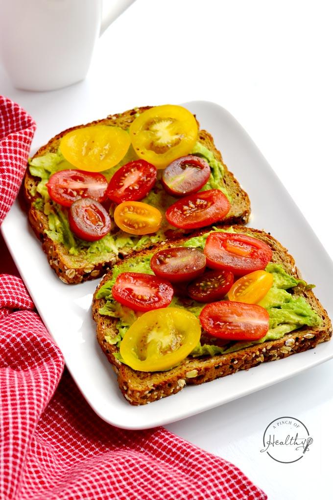 Avocado Toast Quick Vegan Breakfast A Pinch Of Healthy
