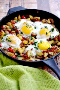 Irish corned beef hash is the perfect breakfast or brunch for St. Patrick's Day, or any day! | APinchOfHealthy.com