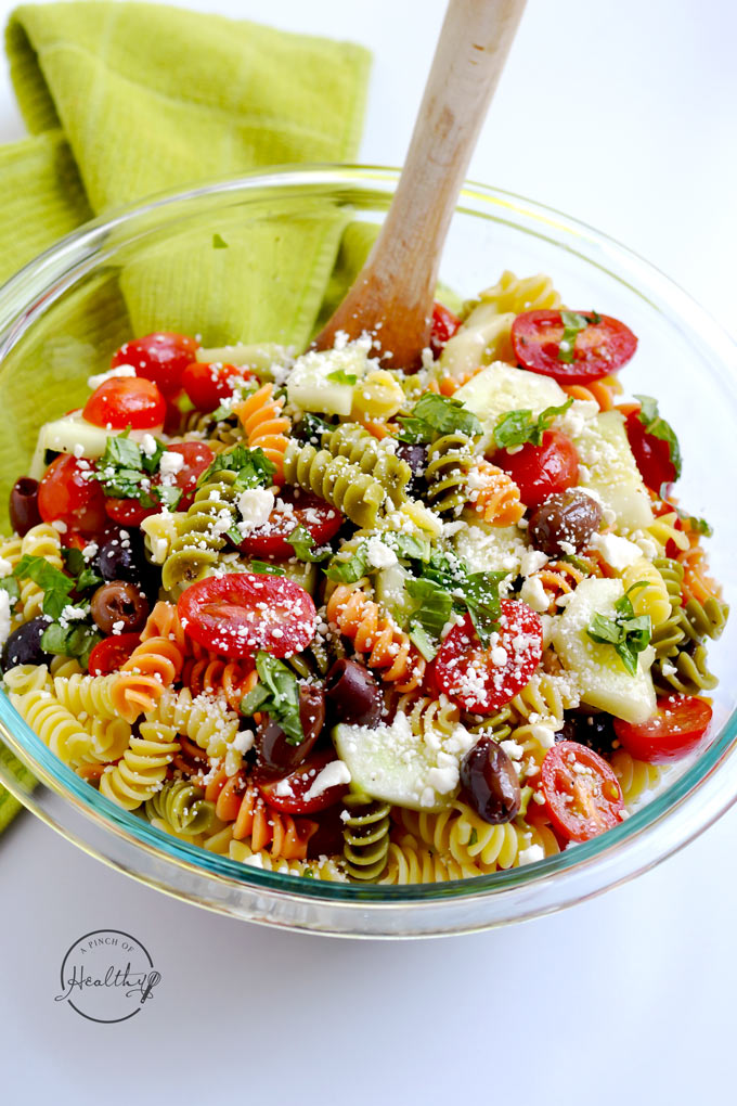 healthy pasta dishes pasta salad a pinch of healthy 10813