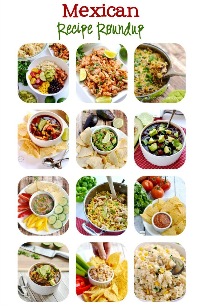Mexican Recipe Roundup for Cinco De Mayo | APinchOfHealthy.com