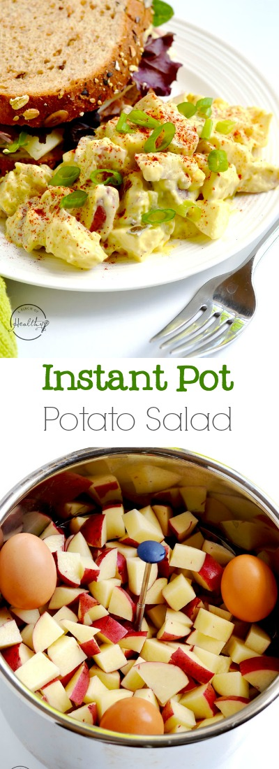 This classic potato salad is a summer staple, perfect for barbecues and pot lucks!| APinchOfHealthy.com