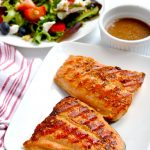This grilled salmon is a quick-cooking dinner that takes less than twenty minutes to make and tastes amazing! | APinchOfHealthy.com