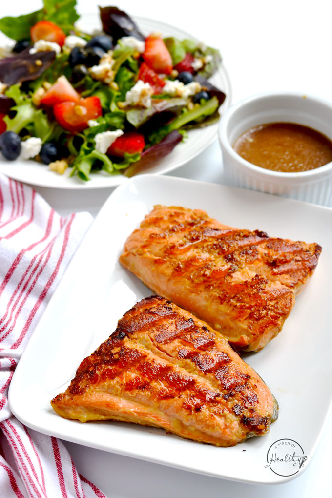 Easy Grilled Salmon Or Grill Pan A Pinch Of Healthy