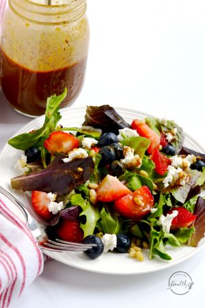 Summer Salad with Berries, Goat Cheese and Pine Nuts