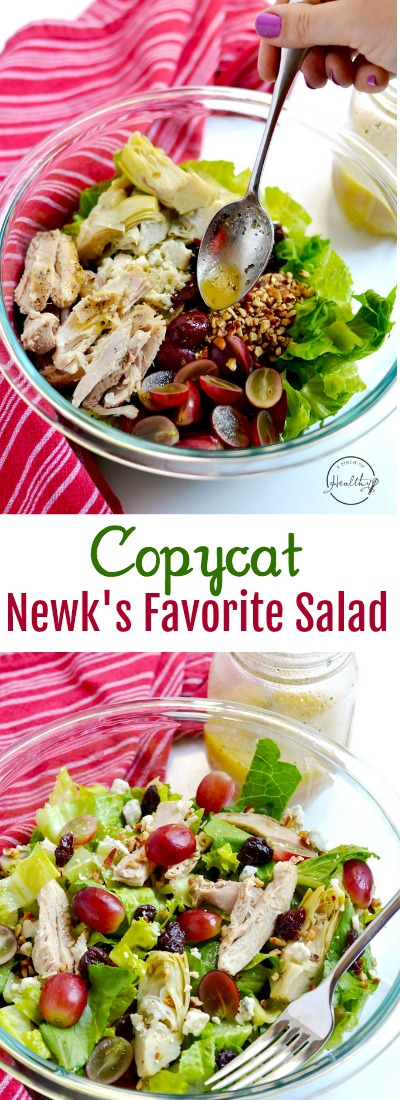 My copycat Newk's Favorite salad is so delicious, tangy and fresh, and it tastes just like the one from Newk's Express Cafe. | APinchOfHealthy.com