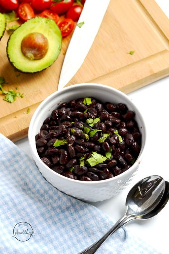 Instant Pot black beans are an easy, basic recipe, and they are delicious in tacos, burritos, or as a side item all by themselves. | APinchOfHealthy.com