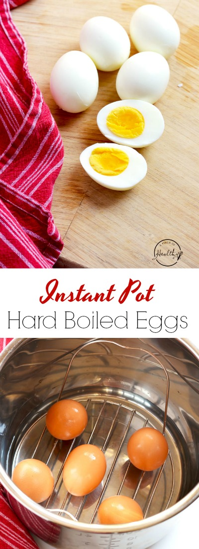 My easy no-fail method for making Instant Pot hard boiled eggs. Great for meal prep/ make head meals and snacks. | APinchOfHealthy.com