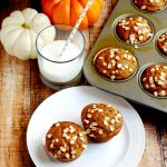 My whole wheat pumpkin spice muffins are a real crowd-pleaser, and they are so light and fluffy. | APinchOfHealthy.com