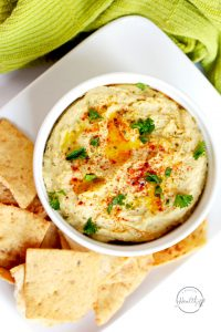 Instant Pot classic hummus from scratch is crazy delicious and simple to make. | APinchOfHealthy.com