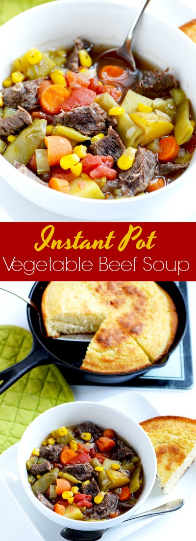 Instant Organic Garden : Instant pot vegetable beef soup a pinch of healthy