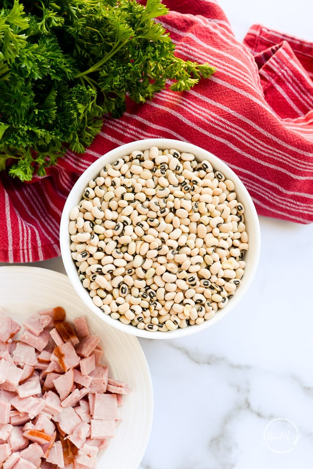 dried black-eyed pease with ham to make Instant Pot black-eyed peas
