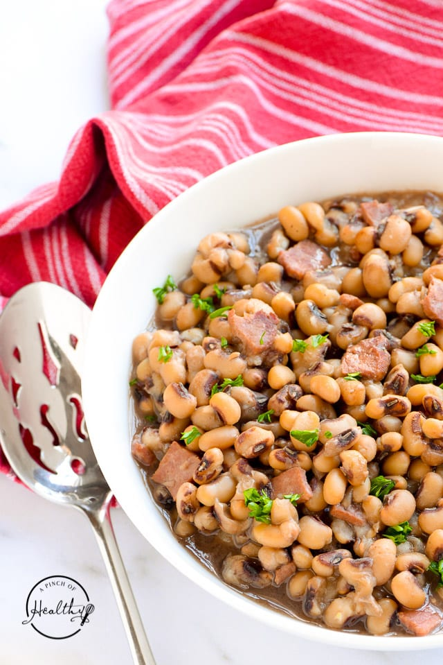 Instant Pot black-eyed peas with ham
