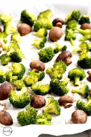 Roasted Broccoli and Mushrooms (Easy Side Dish)