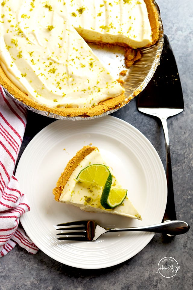 Easy key lime pie overhead