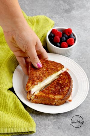 Grilled Ham and Cheese (with honey mustard)