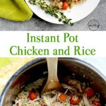 Instant Pot chicken and rice made all in one pot