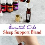 Essential oils sleep support blend