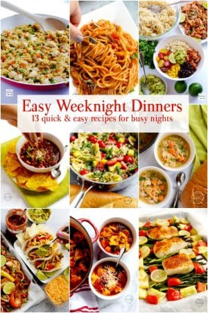 13 Easy weeknight dinners - recipes for busy families