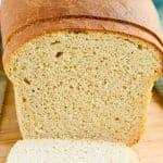 Closeup shot of a loaf of sourdough sandwich bread