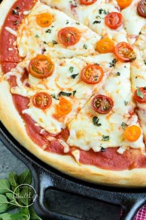 Sourdough Pizza crust pizza margherita