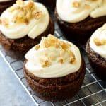 carrot cake cupcakes closeup