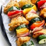 Air fryer chicken skewers