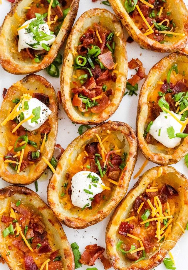 Crispy Potato Skins (oven baked)